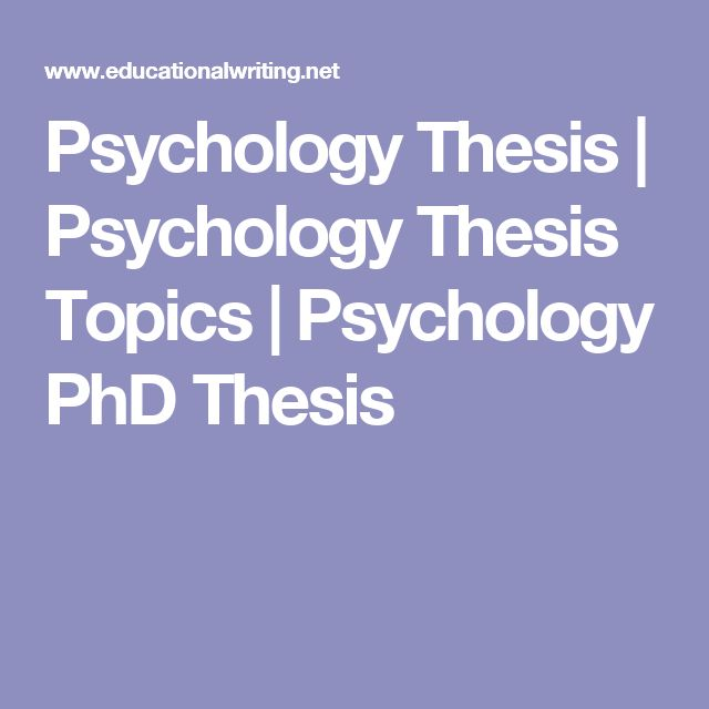 Thesis of psychology students