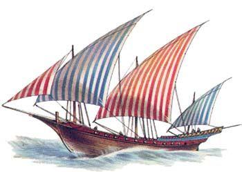 jabeque nicialmente el jabeque berberisco era propulsado por remos y velas, aunque era la vela el sistema preferido de navegación, empleando los remos únicamente para maniobras de puerto o en caso de calma chicha. A finales del siglo XVII los corsarios magrebíes modifican la estructura del jabeque suprimiendo los remos dando lugar a un buque de casco alargado, fácil de maniobrar y de poco calado,