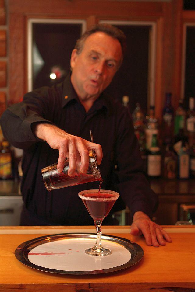 Recipe for Huckleberry Lemon Drop Martini from Triple Creek Ranch in Montana. AMAZING! via blackblogoftravel.com