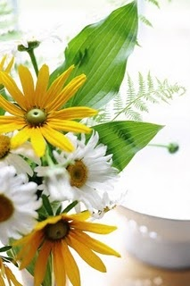 daisies and sunflowers :) Oh how I need to stop pinning wedding things