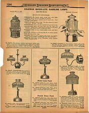 7 best rare coleman lantern images on pinterest 1923 ad 3 page coleman quick lite gas gasoline lamps lanterns parts repair list mozeypictures Images