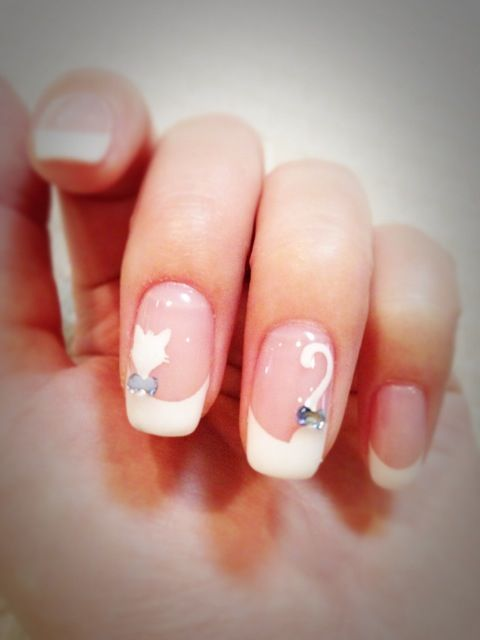cat nail art. This is so cute! - Best 25+ Cat Nail Designs Ideas On Pinterest Cat Nail Art, Cat
