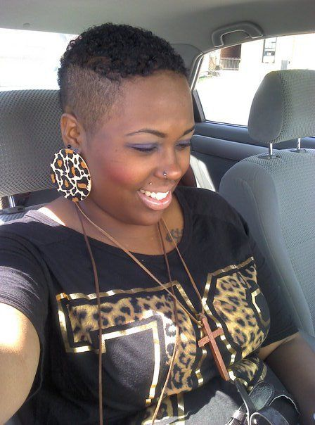 Cute mohawk! If you know this woman, let me know and I'll give her credit for her beauty.