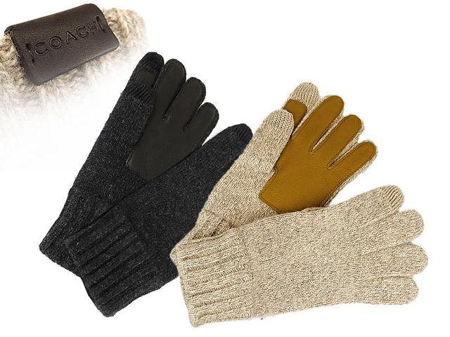 コーチ COACH 手袋 オートミール テック ニット グローブ(S/M,L/XL) メンズレディース [アウトレット品] [ブランド] [並行輸入品]
