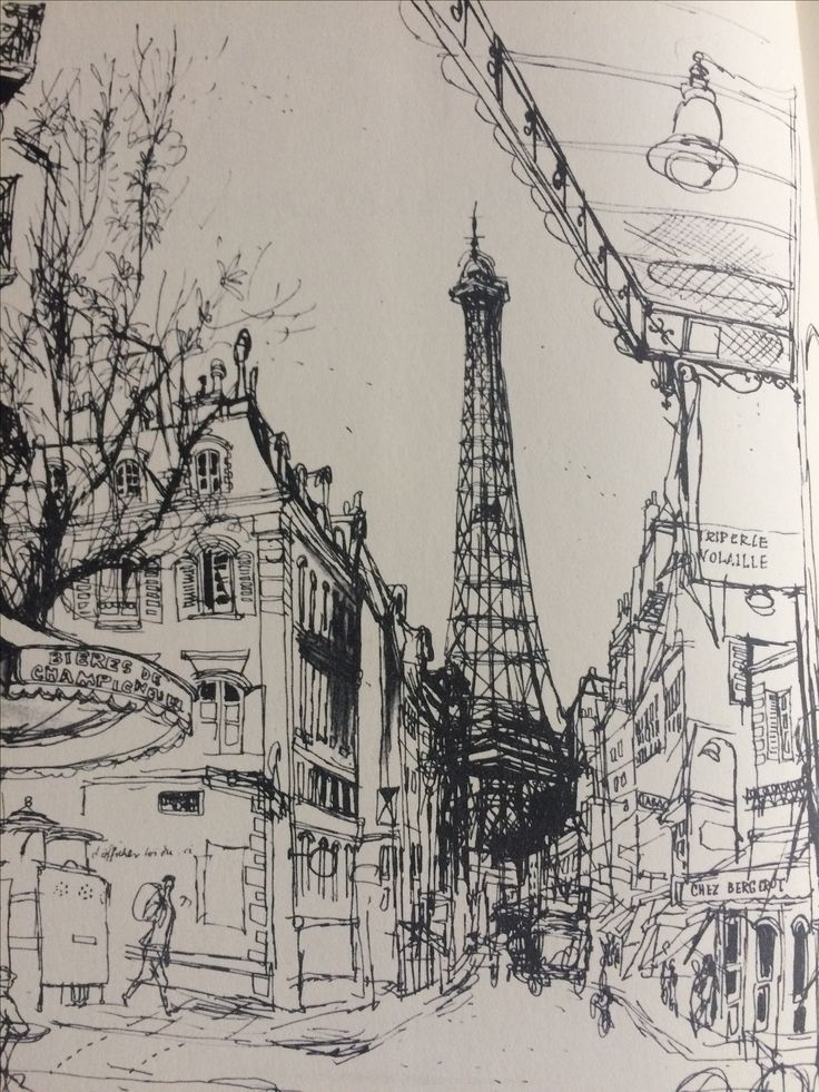 Amazing illustration from 'Paris Sketchbook' by Ronald Searle.