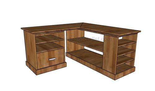 Corner Desk Diy Furniture Pinterest Meubles