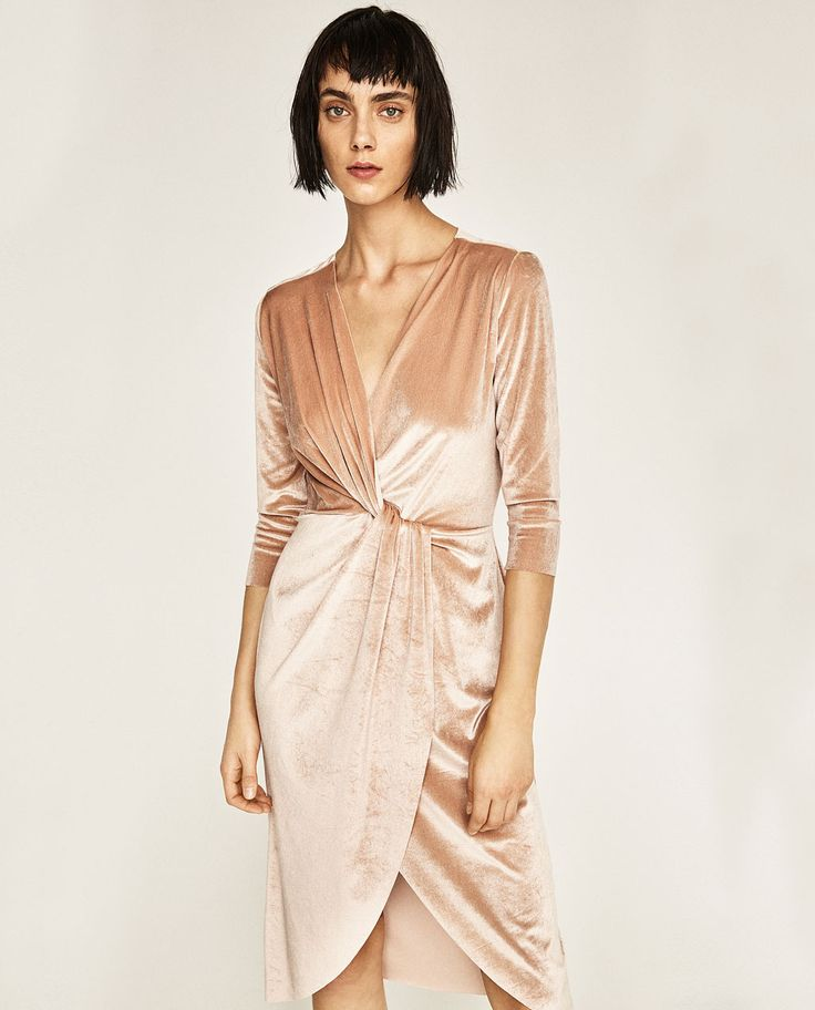Velvet is a hot trend this season! This velvet dress will be great for winter and holiday parties!   CROSSOVER VELVET DRESS from Zara