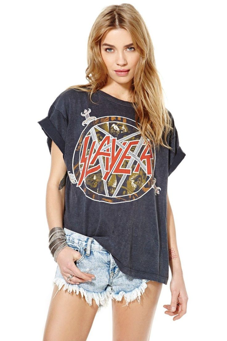 1980s Slayer Tour Tee #NastyGalVintage