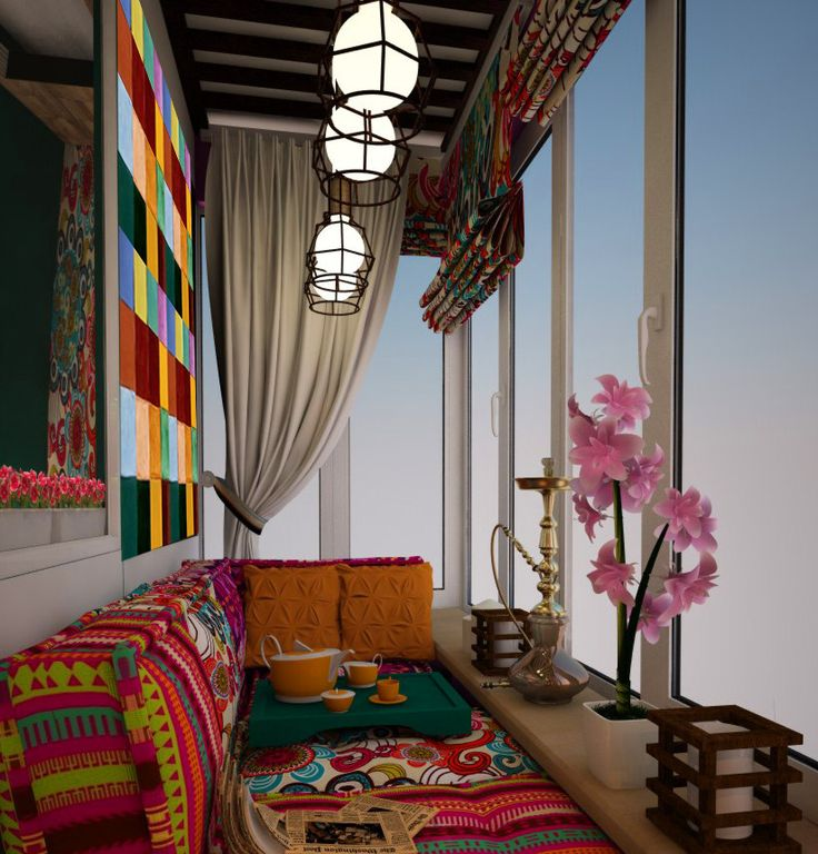 Фотография: Балкон, Терраса в стиле Восточный, Интерьер комнат, как оформить балкон, балкон в москве, как обустроить лоджию – фото на InMyRoom.ru