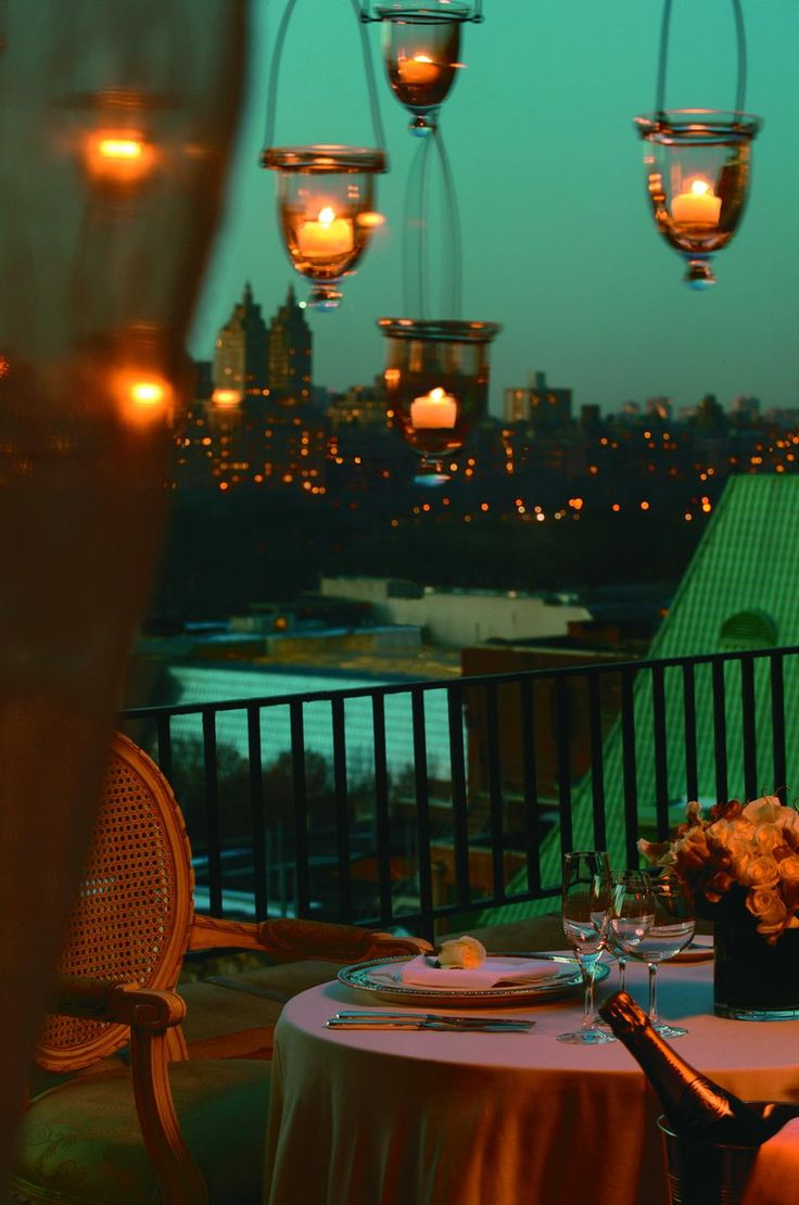 Romantic Dining on the Balcony in NYC
