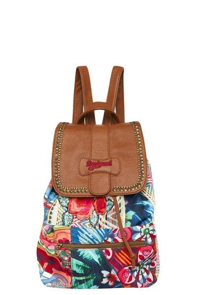 We've added backpacks to our accessories collection. They're very practical and totally on trend this season. Check out this one with colorful jacquard with embroidered and metallic details. It measures 29 x 16 x 40 cm.
