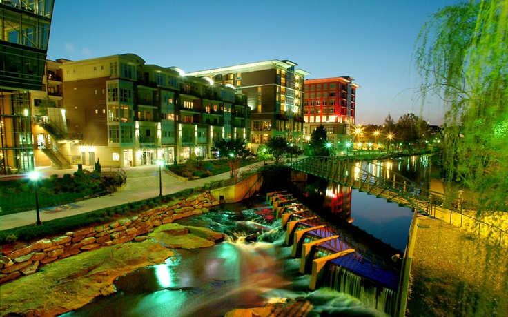 Riverfront in downtown Greenville, SC