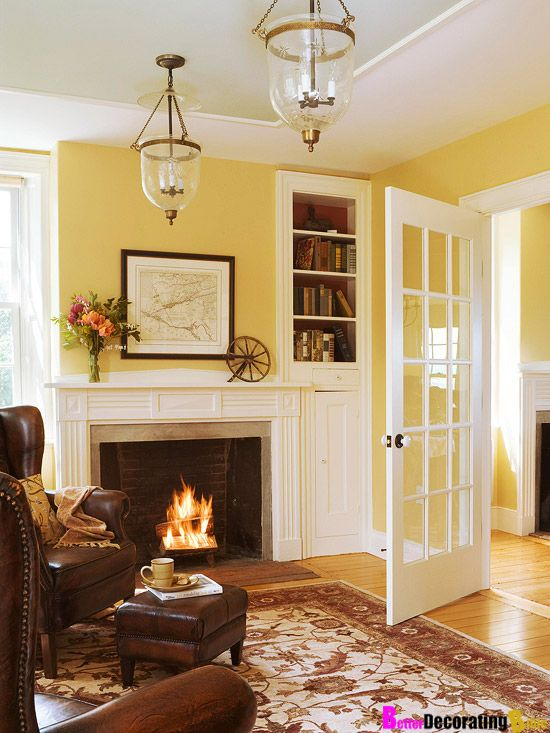 14 best images about yellow walls on pinterest abstract - How to decorate white walls in living room ...