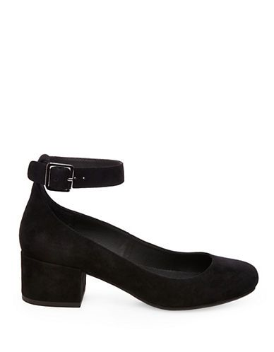 Shoes   Mid Heels   Wails Sudded Ankle Strap Kitten Heels   Hudson's Bay