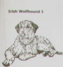 Custom Handmade Irish Wolfhound Dog Natural Stone Coasters