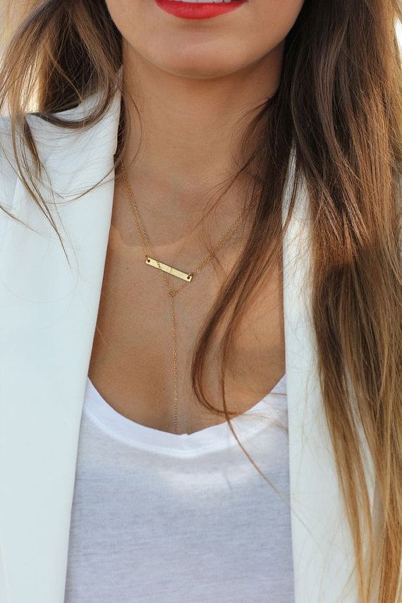 """This Etsy horizontal bar necklace is on our """"must have"""" list"""