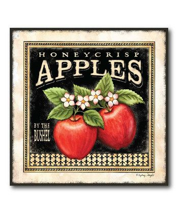 'Apples' Canvas Print  --  This quaint piece will look playful yet chic, it adds instant country-inspired style to any interior whether urban, rural or somewhere in between.