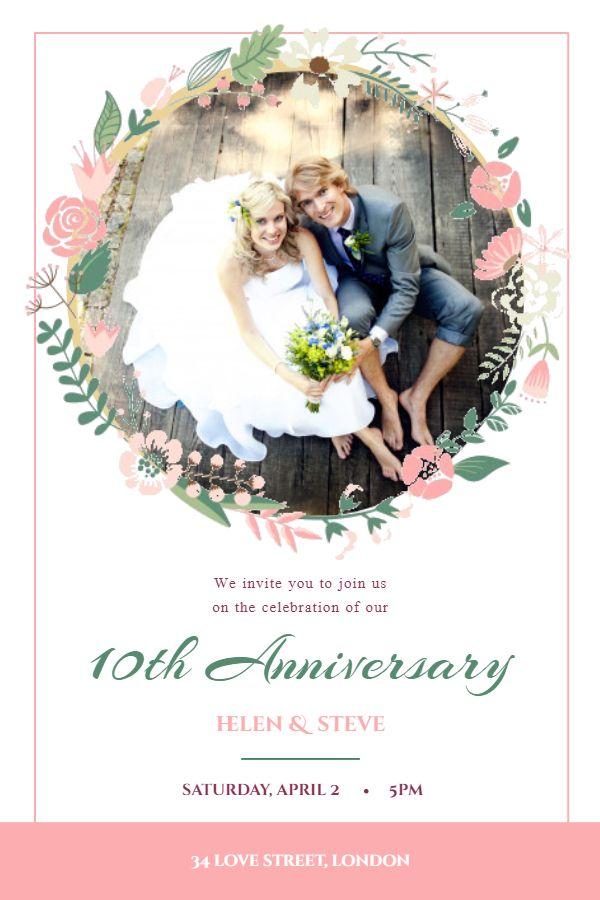 Romantic Anniversary Invitation Card Template Anniversary Invitations Anniversary Romantic Anniversary