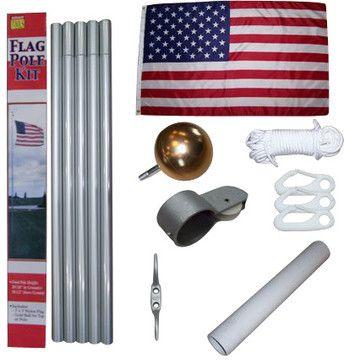Aluminum Flag Pole Kit - $86.99.  Add a South Carolina flag and a University of South Carolina Gamecocks flag