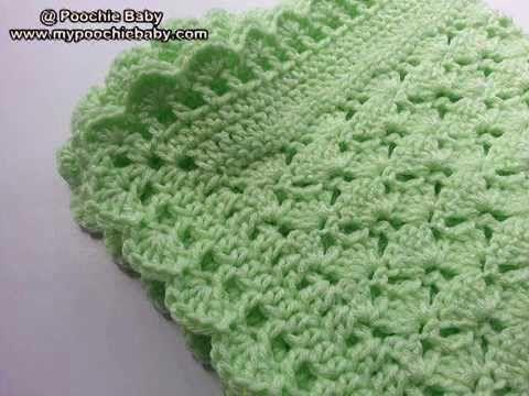 Crochet Easy Elegant Baby Blanket Remake DIY tutorial - YouTube