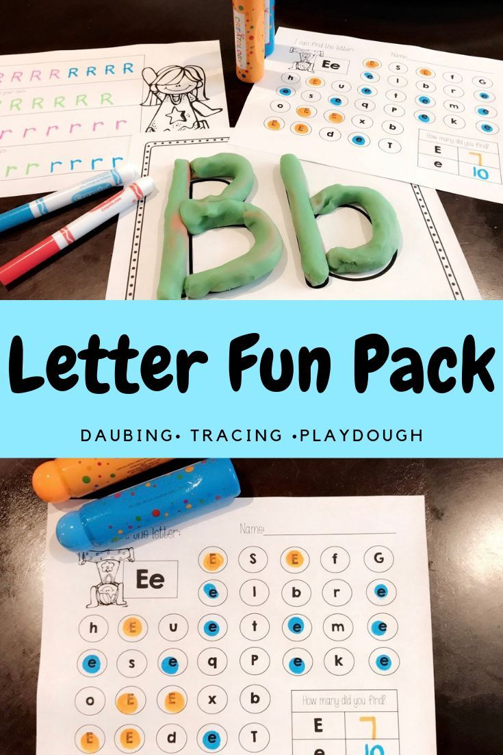 Letter A-Z Fun Pack (Letter Daubing, Letter Tracing, and Formation ...