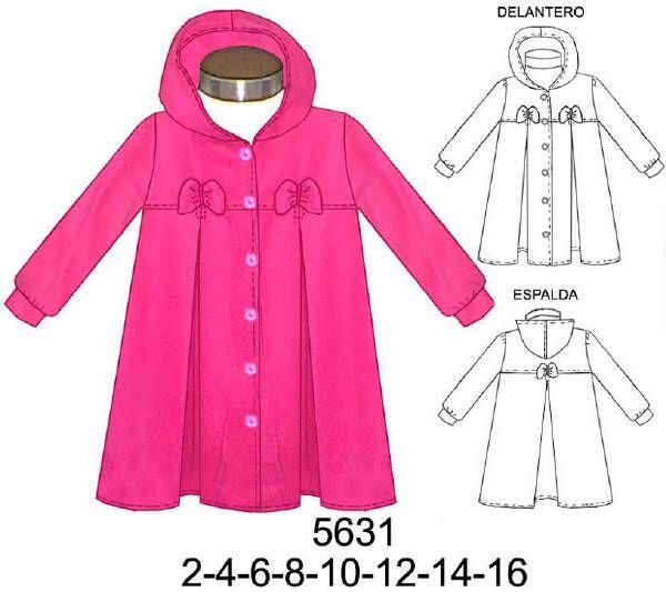 abrigo de niña