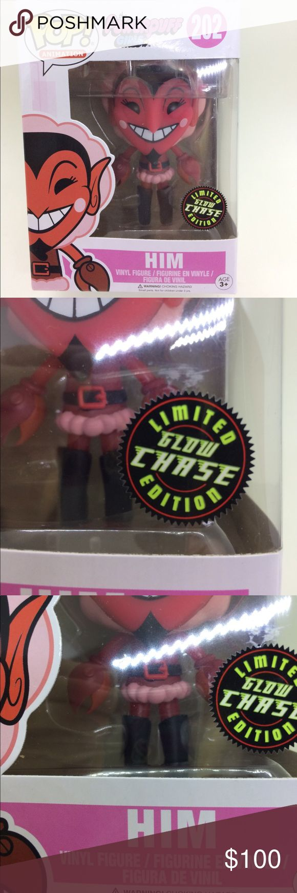 "CHASE LIMITED EDITION GLOW IN THE DARK FUNKO POP NIB.  NM.  NWT.  Limited Edition.  CHASE.  Glow in the Dark Funko Pop 202 ""Him"" from ""The Powerpuff Girls""!  ULTRA RARE!  Perfect gift for a fan or collector! FUNKO Other"