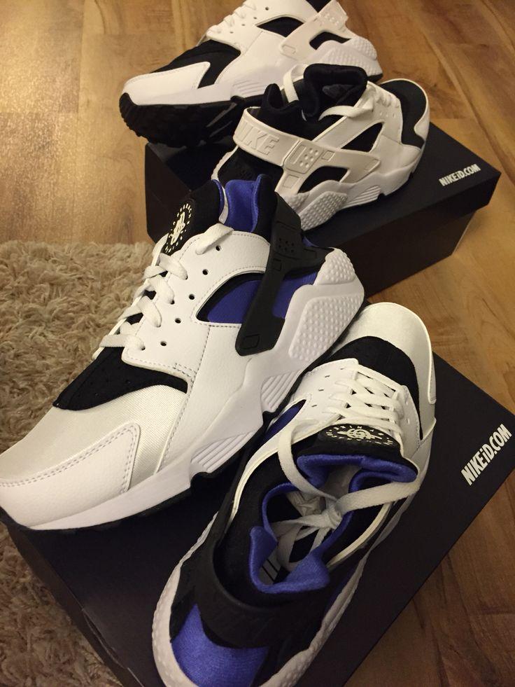 They've arrived #Nike #nikeID #huarache -  pleased as #purplepunch