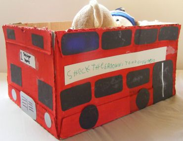 London Bus CraftBoxes Crafts, Bus Boxes, Study London, Telephone Boxes, English Telephone, London Crafts, London Bus, Bus Crafts, Red Telephone