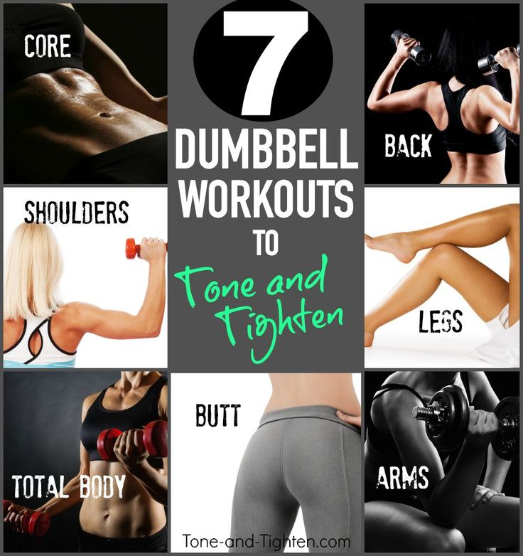 Sculpt sexy lean muscle with a week's worth of total-body dumbbell workouts from Tone-and-Tighten.com