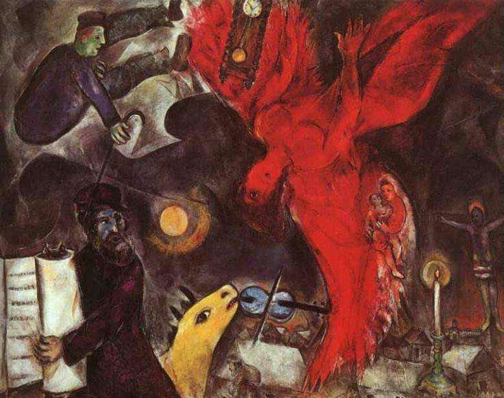 ARTE ASTRATTA: La Caduta dell'Angelo - Marc Chagall (artista russo) - Kunstmuseum, Basilea.