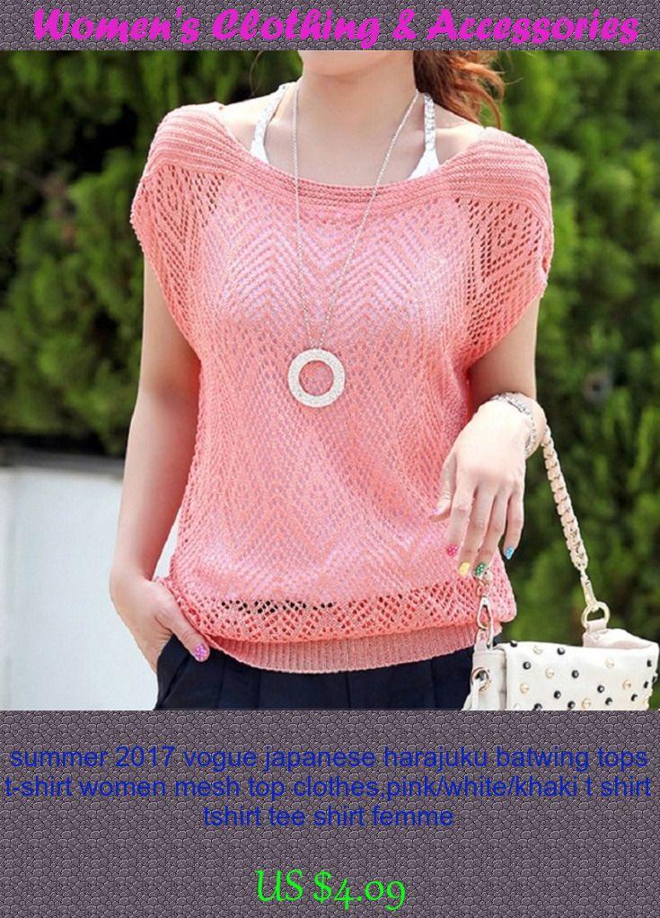summer 2017 vogue japanese harajuku batwing tops t-shirt women mesh top clothes,pink/white/khaki t shirt tshirt tee shirt femme