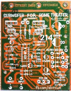 PCB Layout Subwoofer Home Theater