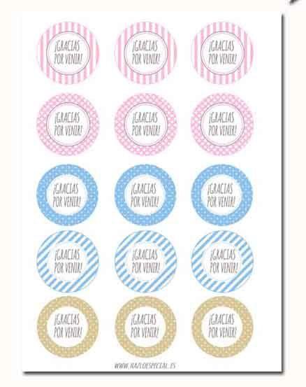 etiqueta circular imprimible gracias por venir by