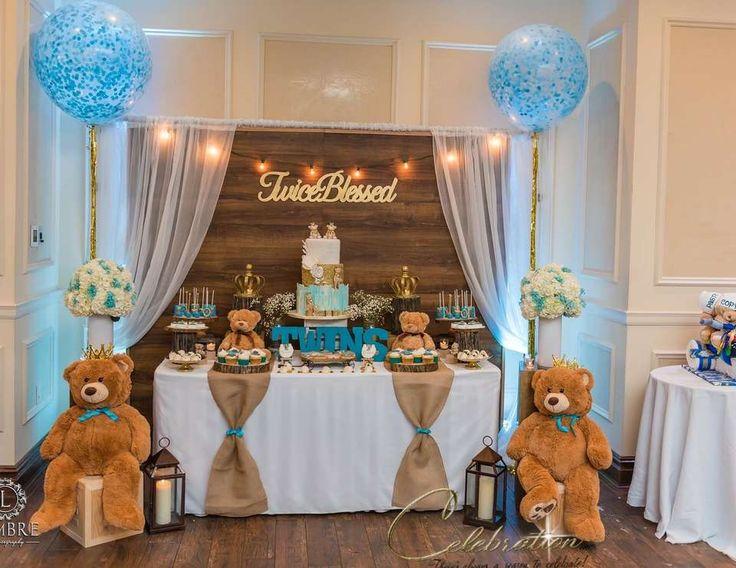 Twins Baby Shower  - Twice Blessed rustic Teddy bear (scheduled via http://www.tailwindapp.com?utm_source=pinterest&utm_medium=twpin)