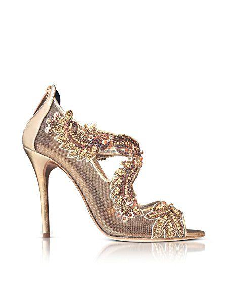 Oscar De La Renta Damen R17170361bronze Bronze Leder Absatzschuhe