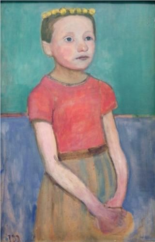 Paula Modersohn-Becker - Figurative Painting - German Expressionism - Portrait of an Italian girl - 1906