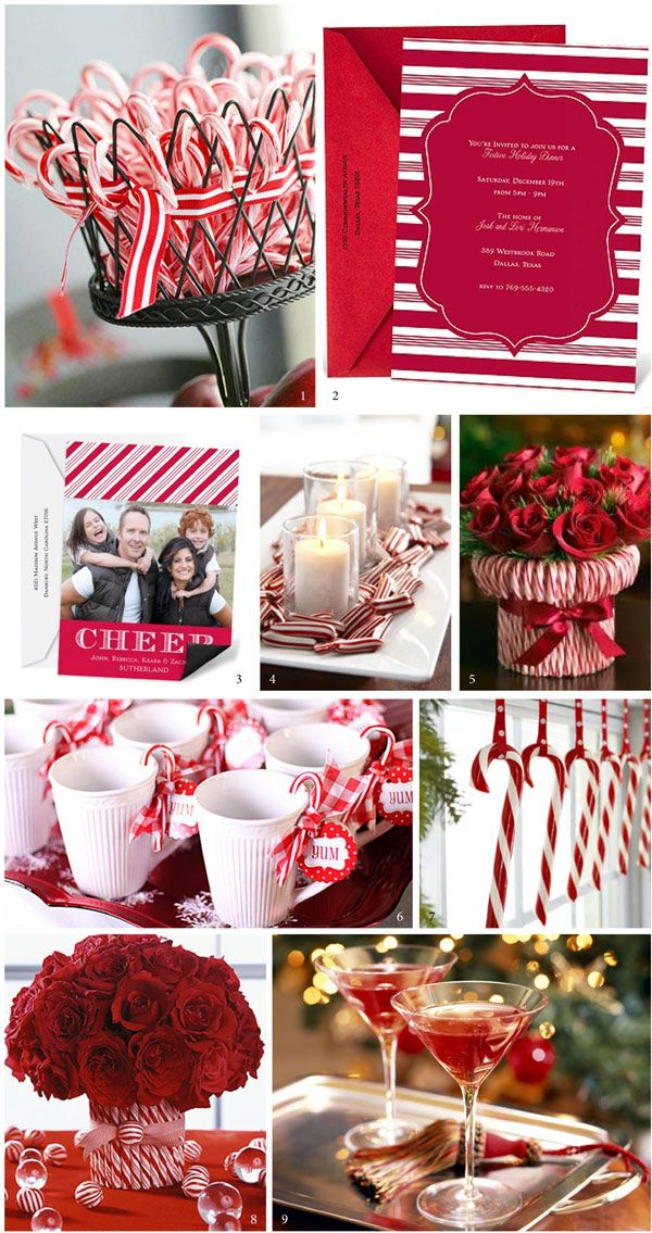 Holiday Party Inspiration: Candy Canes and Roses