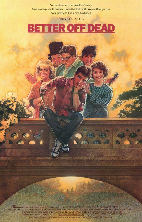 """Better Off Dead..."" (Savage Steve Holland, 1985) - poster design by Drew Struzan"