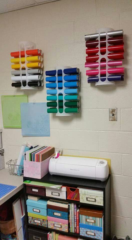 The 21 best images about craft storage cricut silhouette for Craft paper storage ideas