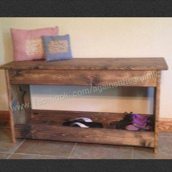 Shoe Bench Bench Shoe Storage Bench Bench Seat Wood Bench Seat Mudroom Bench Boot Bench