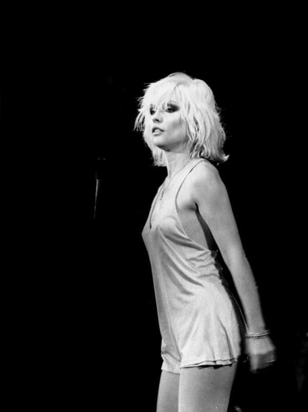 Debbie Harry, onstage with Blondie, LA 1979.