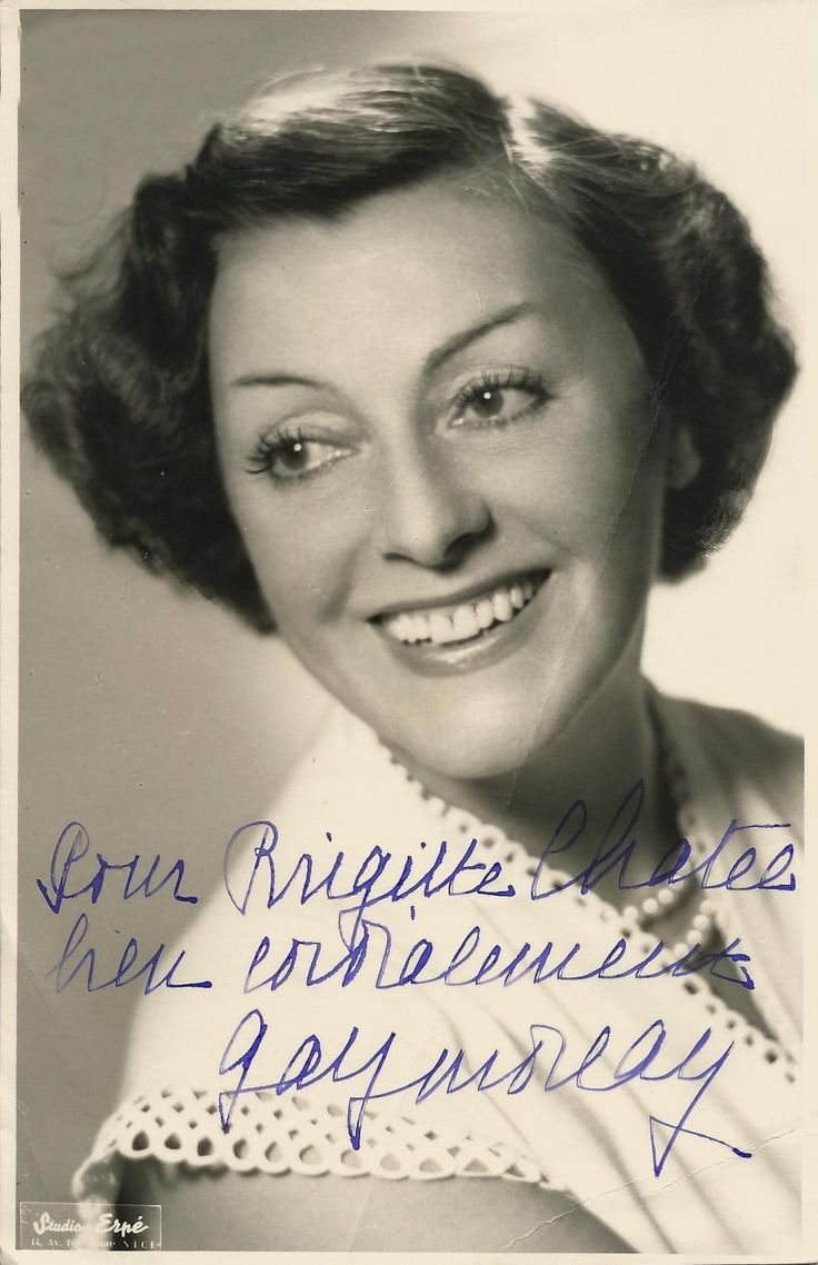 Antique for sale Autograph photo Gaby Morlay actress by Erpe Photography Picture Image Graphic art Fine arts architecture
