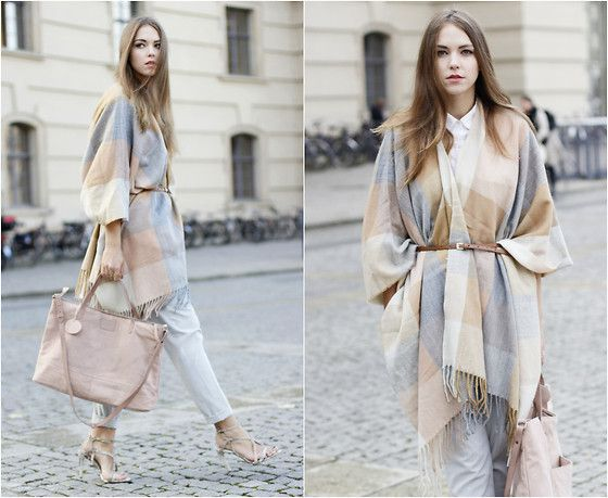 Dominique B. - Review Poncho, Pepe Jeans London Bag - Spring is on the way