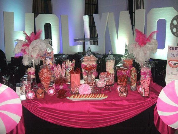 Wedding Candy Bar Purple | Candy stations can be created in a variety of styles, sizes, color ...