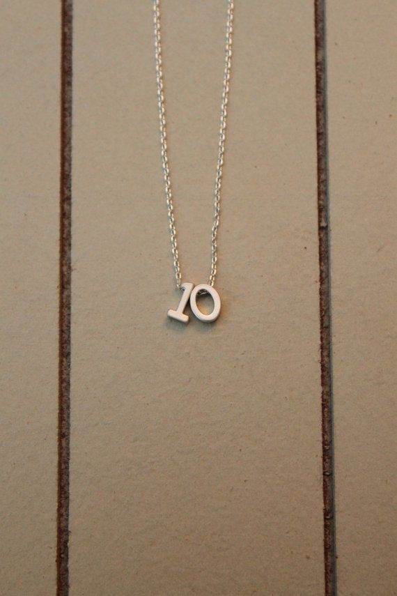 Lucky Number Necklace Sports Team Jersey Number by ashabbypurpose