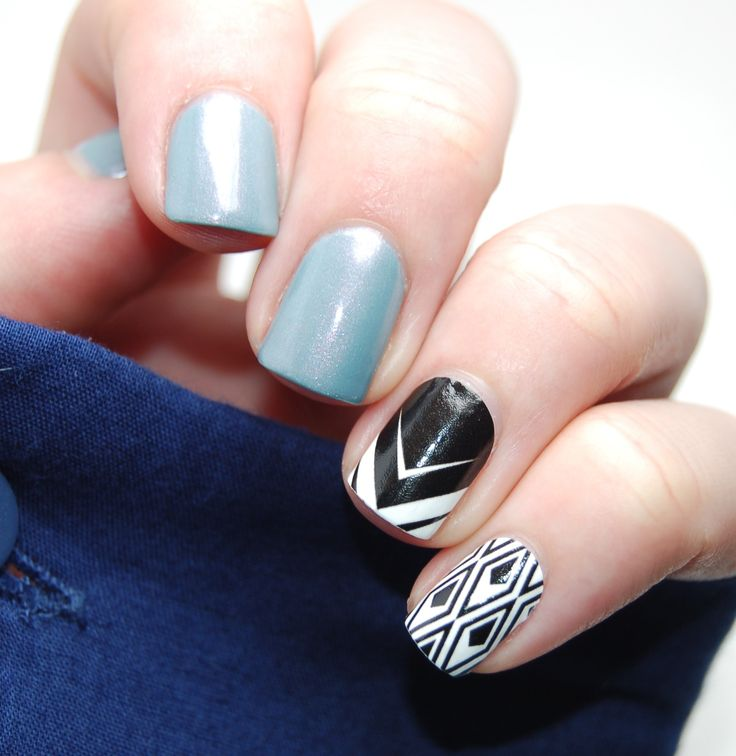 Rescue Beauty Lounge Reveillon accented with NCLA It Don't Matter Nail Wraps: