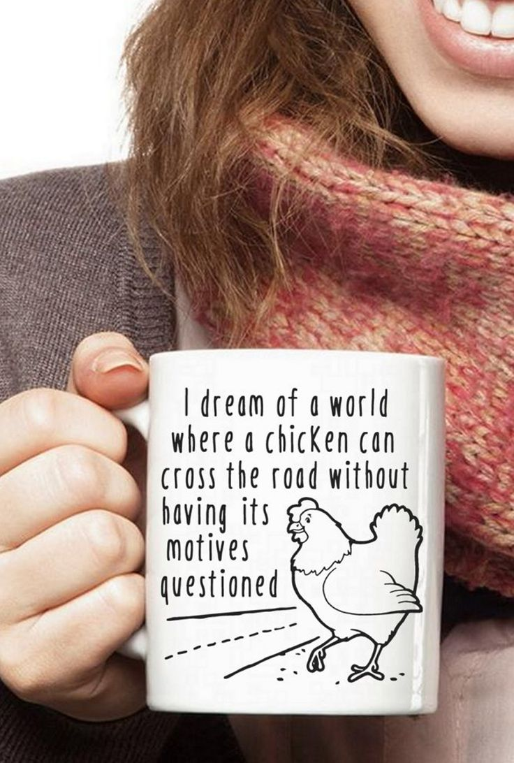Yes, we all dream of such a world. Funny Chicken lover's coffee mug. http://amzn.to/2ek9Psd