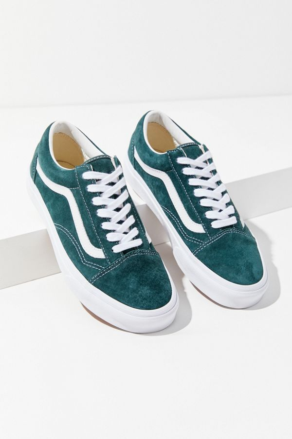 Vans Old Skool Suede (Dark Green) | Leather shoes woman