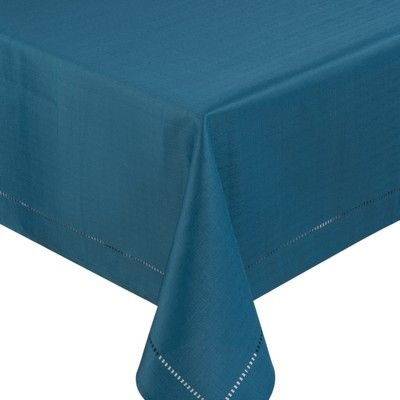 Shimmer Teal Tablecloth - Two Sizes Available